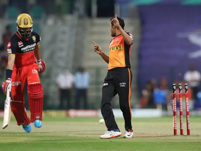 SRH Vs RCB IPL 2021 Match 6 Shahbaz Nadeem pick brilliant catch Devdutt Padikkal | IPL 2021: मैदान पर शाहबाज नदीम ने पकड़ा कमाल का कैच, देखे बल्लेबाज देवदत्त पडिक्कल भी रह गए हैरान