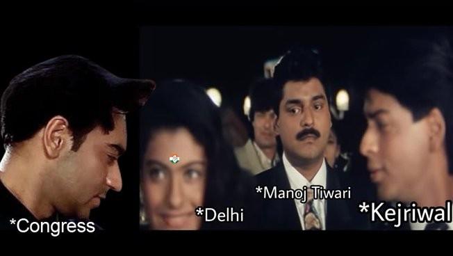 Delhi elections: Congress shares Mims in response to AAP and BJP's memes, said - bride we will take | दिल्ली चुनाव: कांग्रेस ने AAP व BJP के मीम्स के जवाब में शेयर किया मीम्स, कहा- दुल्हनिया हम ले जाएंगे
