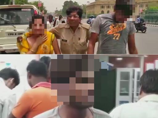 Lucknow: Woman and her husband attempt self immolation near Vidhan Sabha leveling rape charges against a Samajwadi Party worker   यूपी विधानसभा के सामने दंपती ने की आत्मदाह की कोशिश, सपा कार्यकर्ता पर लगाया दुष्कर्म का आरोप