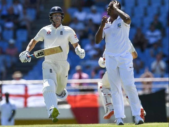 Shannon Gabriel Banned For Four ODIs for his comment against joe root during 3rd test | विंडीज तेज गेंदबाज शैनन गैब्रियल चार वनडे के लिए सस्पेंड, जो रूट के खिलाफ किया था कमेंट