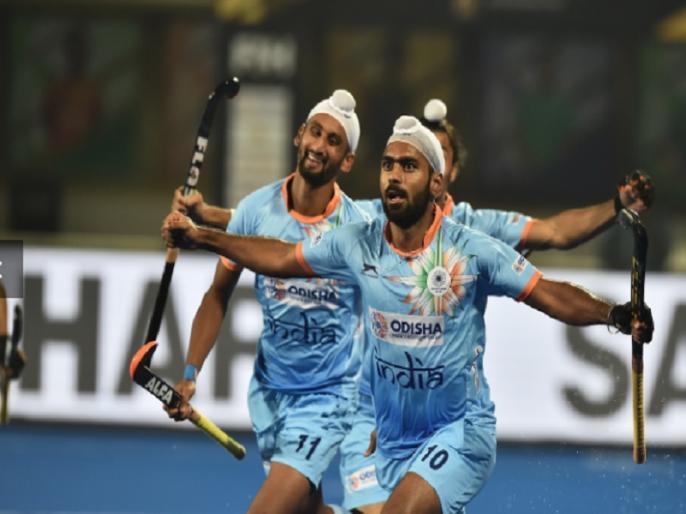 hockey world cup 2018 group c india and belgium play out 2 2 draw | Hockey World Cup: भारत के हाथ से आखिरी पांच मिनट में फिसली जीत, बेल्जियम के साथ मैच 2-2 से ड्रॉ