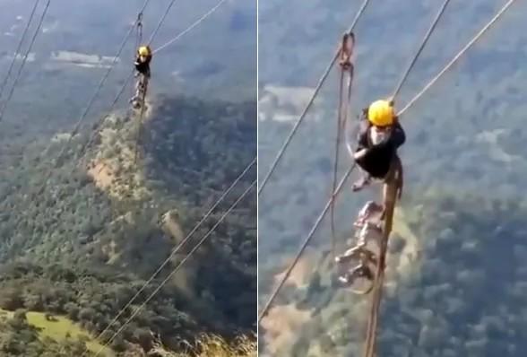 Anand Mahindra said to the people hanging on the wires - I will pray for them, watch the video | आनंद महिंद्रा बिजली के तारों से लटके लोगों को देख बोले- मैं इनके लिए प्रार्थना करूंगा, देखें वीडियो