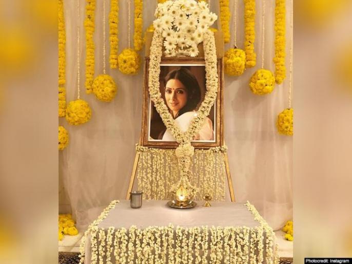 sridevi death anniversary chennai boney kapoor anil-kapoor janhvi khushi | Sridevi's first death Anniversary: श्रीदेवी की आत्मा की शांति के लिए चेन्नई में हुई पूजा, गमगीन नजर आए बोनी कपूर