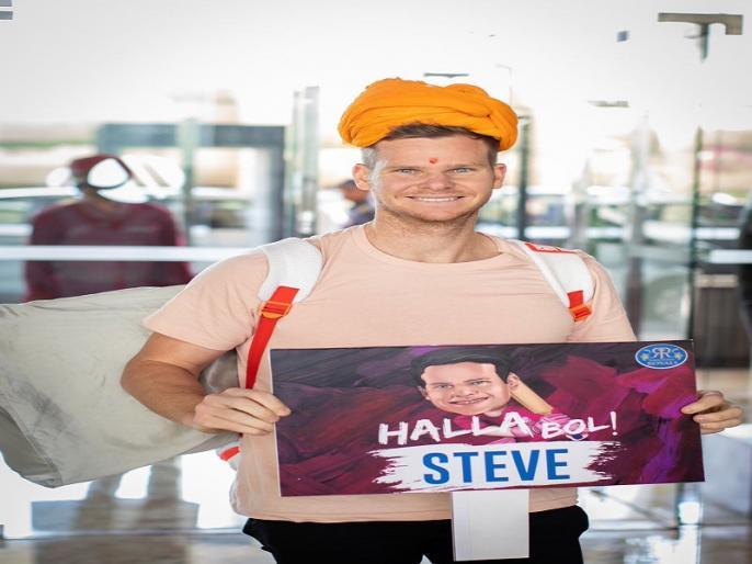 IPL 2019: Steve Smith joins Rajasthan Royals camp ahead of the new season of Indian Premier League | IPL 2019: स्टीव स्मिथ ने की राजस्थान रॉयल्स में वापसी, हुआ शाही अंदाज में स्वागत