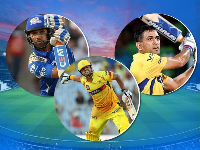 IPL 2019: MS Dhoni, Suresh Raina, Rohit Sharma in race to become first indian to touch 200 sixes landmark | IPL 2019: धोनी, रैना, रोहित शर्मा के बीच छक्कों के इस 'खास' रिकॉर्ड के लिए होड़, नया इतिहास रचने का मौका