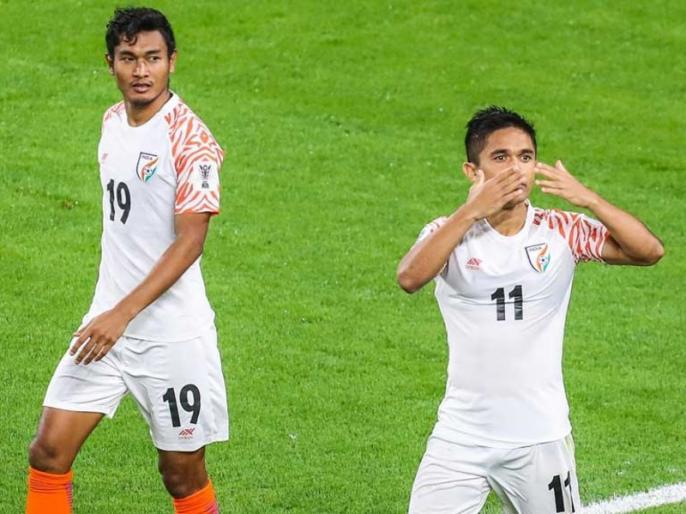 AFC Asian Cup: India Eye on Knock Out vs Bahrain, Sunil Chhetri will equal Bhaichung Bhutia record | AFC Asian Cup: भारत की नजरें बहरीन के खिलाफ मैच में नॉक आउट पर, सुनील छेत्री के नाम होगा ये रिकॉर्ड