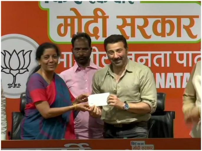 sunny deol join bjp election from punjab gurdaspur seat | लोकसभा चुनाव 2019: बीजेपी में शामिल हुए एक्टर सनी देओल, गुरदासपुर से लड़ सकते हैं चुनाव