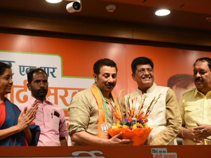 Sunny Deol contest from Gurdaspu Som Prakash from Hoshiarpur Kirron Kher from Chandigarh ls polls 2019 | सनी देओल को बीजेपी ने गुरदासपुर से दिया टिकट, किरण खेर चंडीगढ़ से लड़ेंगी चुनाव