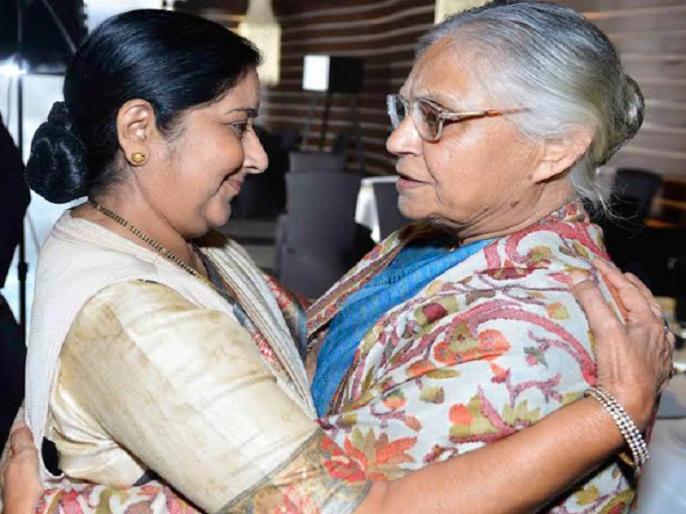 Sushma Swaraj We opponents in politics but friends in personal life on Sheila Dikshit death | शीला दीक्षित के निधन पर सुषमा स्वराज ने कहा- 'हम राजनीति में प्रतिद्वंदी थे लेकिन असल जिंदगी में दोस्त थे'