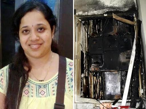 Fire in the Gurujram Society, Pregnant Swati saved many lives by giving up his life | गुरुग्राम: ट्यूलिप ऑरेंज सोसाइटी में लगी आग, प्रेग्नेंट स्वाति ने अपनी जान देकर बचाई कई जिंदगियां