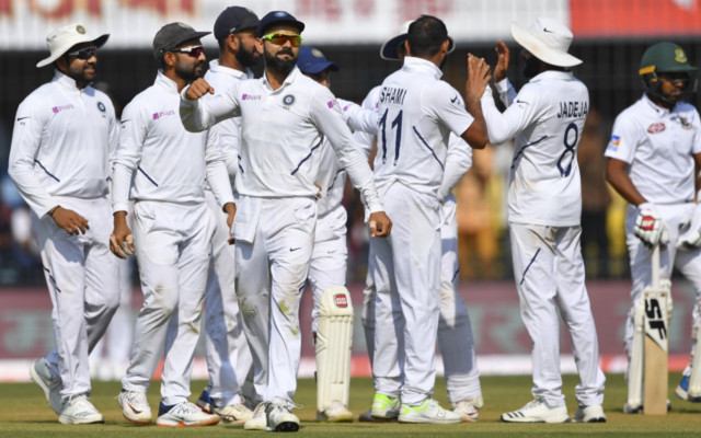 India vs Bangladesh Live Score, 1st Test Match at Indore, Day 1: Indian bowlers get Bangladesh all out for 150 runs in 1st Test   Ind vs Ban, 1st Test: भारतीय गेंदबाजों ने बांग्लादेशी बल्लेबाजों के छुड़ाए छक्के, पूरी टीम 150 रन पर हुई ढेर