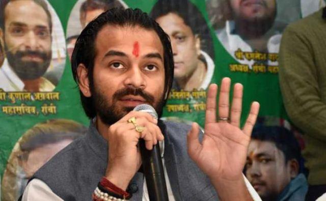 Lalu's son Tej Pratap to launch online platform 'Tej Sena'   तेजप्रताप यादव ने तेज सेना बनाए जाने की घोषणा की, भाजपा ने कसा तंज