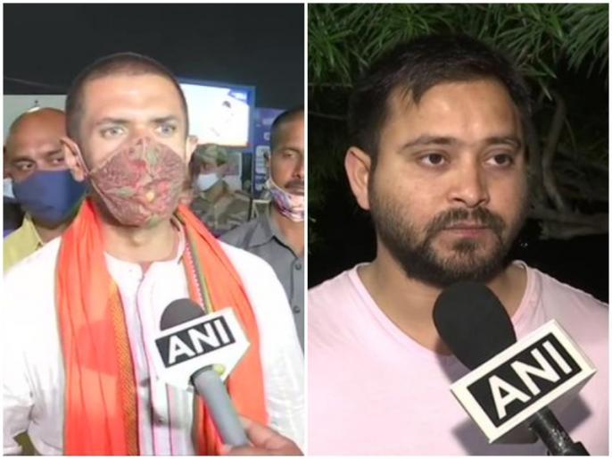 Bihar CM nitish kumar takes oath, RJD tejashwi yadav chirag paswan congratulates | 'नीतीश कुमार जी को CM 'मनोनीत' होने पर शुभकामनाएं', तेजस्वी का तंज, चिराग पासवान से कही ये बात