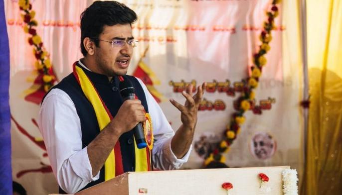 बेंगलुरु तेजस्वी सूर्या बीजेपी युवा सांसद