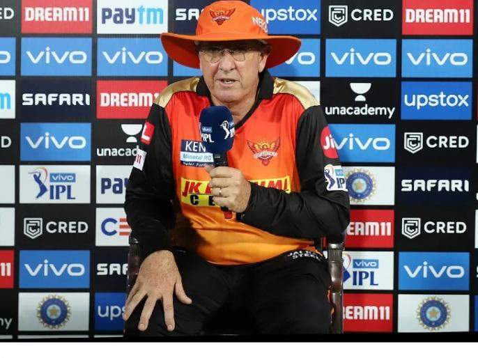 IPL 2021Sunrisers Hyderabad coach Trevor Bellisit was right to call Hurthal Patel's PhulToss up to his waist | IPL 2021:सनराइजर्स हैदराबाद के कोच ट्रेवर बेलिस ने कहा,हर्षल पटेल की कमर तक आती फुलटॉसको नोबॉल करार देना सही