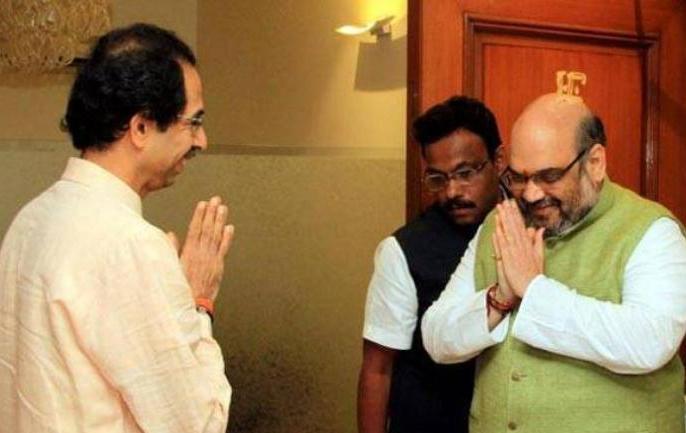 Shiv Sena, BJP tussle over Maharashtra CM post begins   महाराष्ट्र: शिवसेना ने किया मुख्यमंत्री पद का दावा, अमित शाह की 'मंजूरी' का हवाला दिया