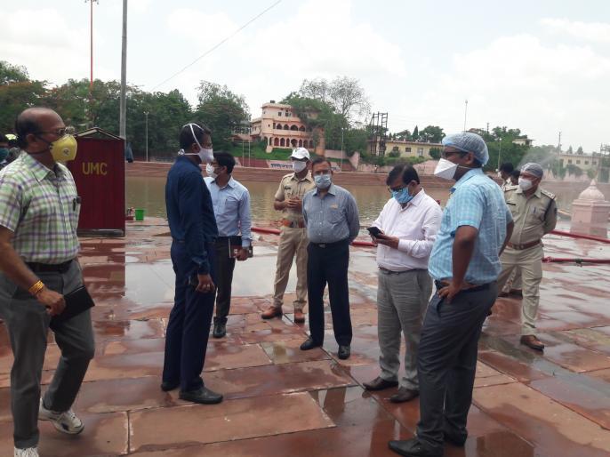 Coronavirus lockdown epidemic Baba Shri Mahakaleshwar's impact Sawan ride officials inspect | कोरोना महामारीःबाबा श्री महाकालेश्वर की सावन सवारी पर असर,अधिकारियों ने कियानिरीक्षण