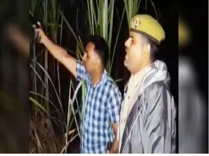 Police personnel shouts thain thain to scare criminals during an encounter in Sambhal | UP: एनकाउंटर के दौरान पिस्टल नहीं चलने पर पुलिसकर्मी चिल्लाया ठांय-ठांय, वीडियो वायरल के साथ उड़ा मजाक
