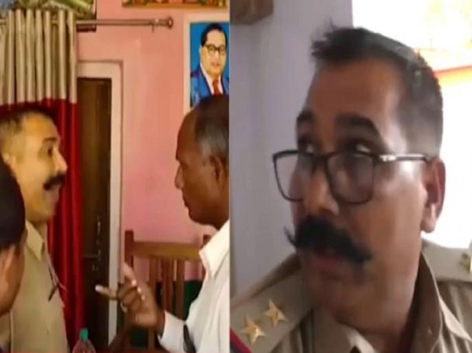 UP mau Policeman retired army official exchange blows video goes viral | ''मारूंगा जूता-जूता'' ये कहते हुए जब थाने में पुलिस ने सेना के अधिकारी को जड़ा थप्पड़, वायरल हुआ वीडियो