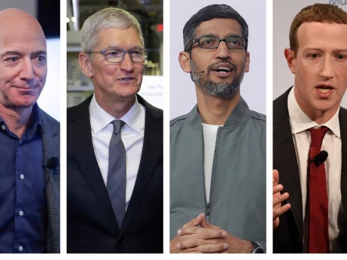 Amazon, Apple, Facebook and Google congress hearing over their market power | गूगल, फेसबुक, अमेजन और एपल पर अपनी ताकत के बेजा इस्तेमाल का लगा आरोप, विशाल आकार को टुकड़ों में बांटने की उठी मांग