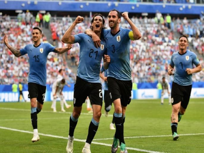fifa world cup 2018 uruguay beat russia by 3 0 to reach top in group a | FIFA World Cup 2018: उरुग्वे ने निकला रूस का दम, 3-0 से हराकर ग्रुप-ए में टॉप पर