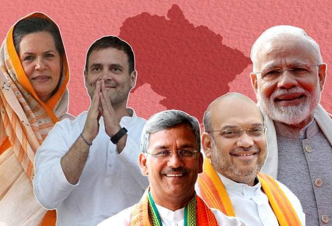 lok sabha election 2019 uttarakhand bjp congress | उत्तराखंड की चार सीटों पर भाजपा, एक पर कांग्रेस आगे