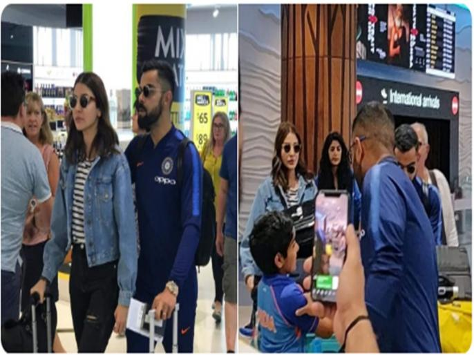 India tour of New Zealand, 2019:virat kohli and co. reached auckland for the upcoming new zealand tour   Video: ऑस्ट्रेलिया फतह के बाद न्यूजीलैंड पहुंची टीम इंडिया, पत्नी अनुष्का संग नजर आए विराट कोहली