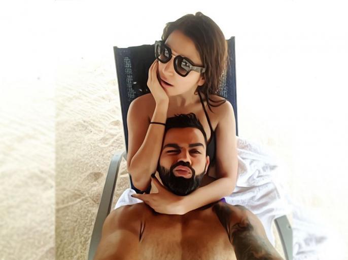 Virat Kohli shares Pic with wife Anushka Sharma on instagram, goes viral | विराट कोहली ने अनुष्का शर्मा के साथ समुद्र किनारे चिल करते हुए शेयर की शानदार सेल्फी, कुछ ही मिनटों में हुई वायरल