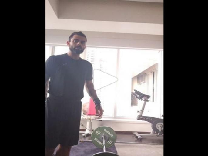 Virat Kohli Shows Off Weightlifting Skills, AB De Villiers Praises, Watch Video | विराट कोहली ने शेयर किया वेटलिफ्टिंग का हैरान करने वाला वीडियो, डिविलियर्स ने किया खास कमेंट, देखें वीडियो