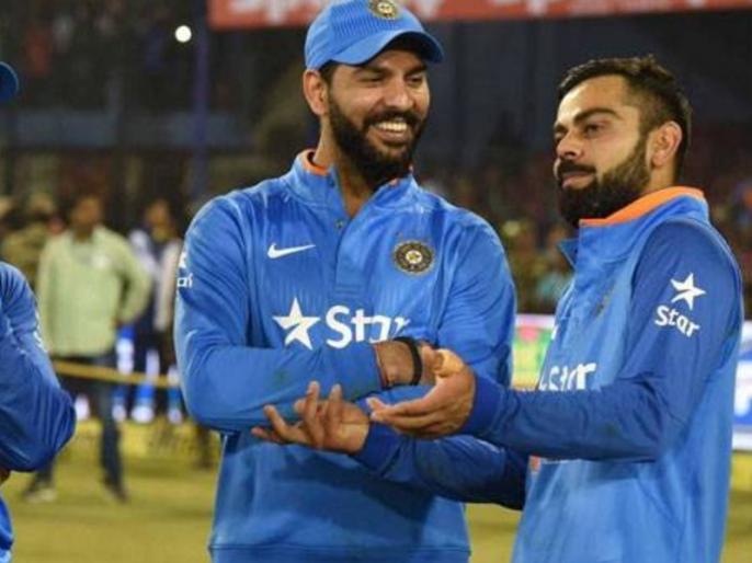 Yuvraj Singh trolls Virat Kohli after Team India captain shares his throwback photo | विराट कोहली ने शेयर की अपनी तस्वीर, युवराज सिंह ने मजेदार कमेंट से कर दिया ट्रोल