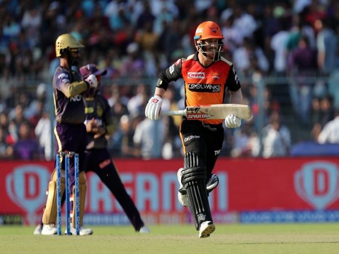 IPL 2019, KKR vs SRH: David Warner becomes first overseas cricketer to score 700 runs against KKR   IPL 2019: डेविड वॉर्नर की आईपीएल में धमाकेदार वापसी, बने ये कारनामा करने वाले पहले विदेशी बल्लेबाज