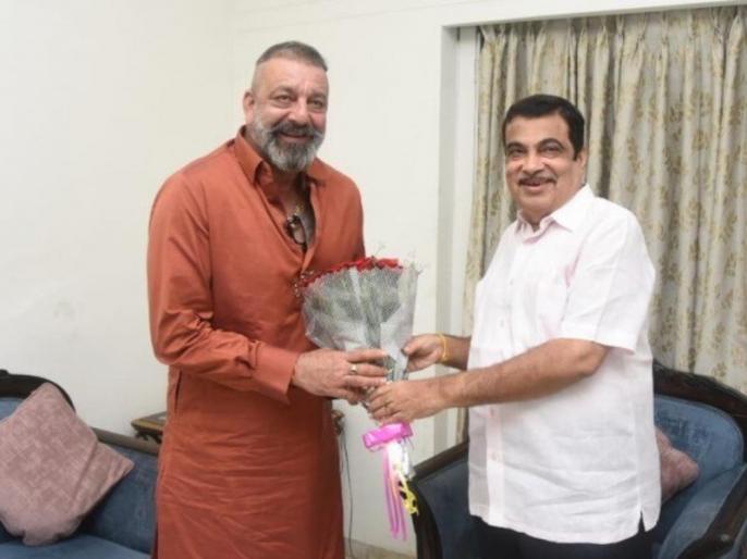 sanjay dutt meet transport minister nitin gadkari | नितिन गडकरी से मिले संजय दत्त, अफवाहों का बाजार फिर हो गया गर्म