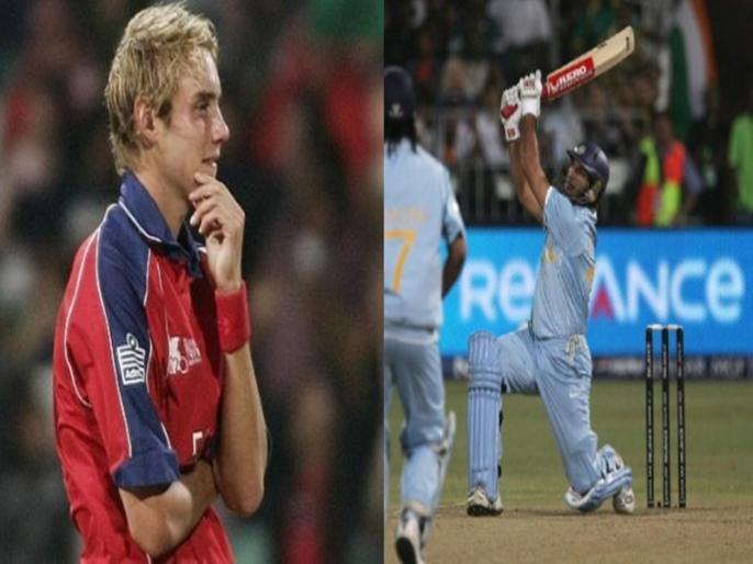 Yuvraj Singh stunned the world and etched his name in history | 13 साल पहले आज ही के दिन युवराज सिंह ने स्टुअर्ट ब्रॉड को जड़े थे 6 गेंदों पर 6 छक्के, महज 12 गेंदों में ठोंके थे 50 रन