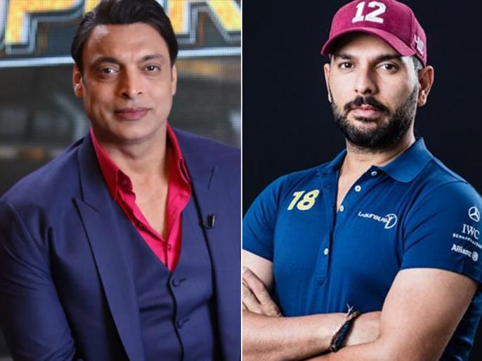 Shoaib Akhtar hails Yuvraj Singh, yuvi says, It was terrifying to face you   शोएब अख्तर ने युवराज सिंह को बताया मैच विजेता, युवी ने कहा, 'आपकी गेंदबाजी से खौफ खाता था'