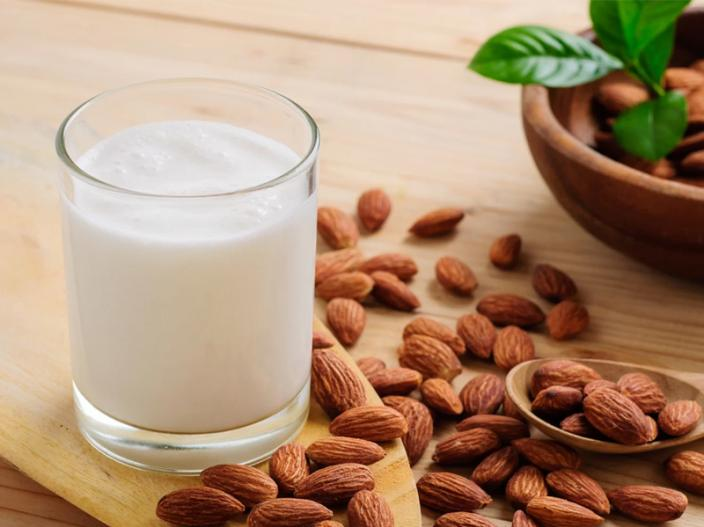 almond and milk |