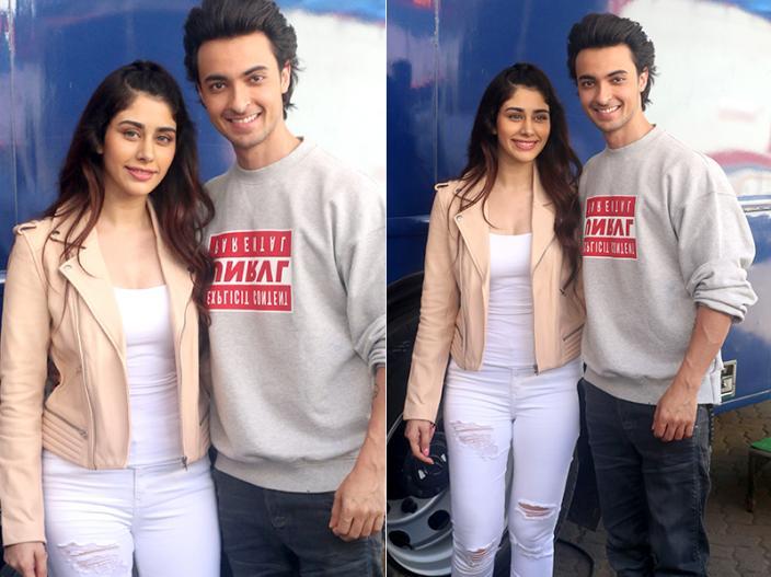Salman khan's brother in law Ayush Sharma and Warina Hussain Did 'Loveratri' Promotion at Mehboob studio |