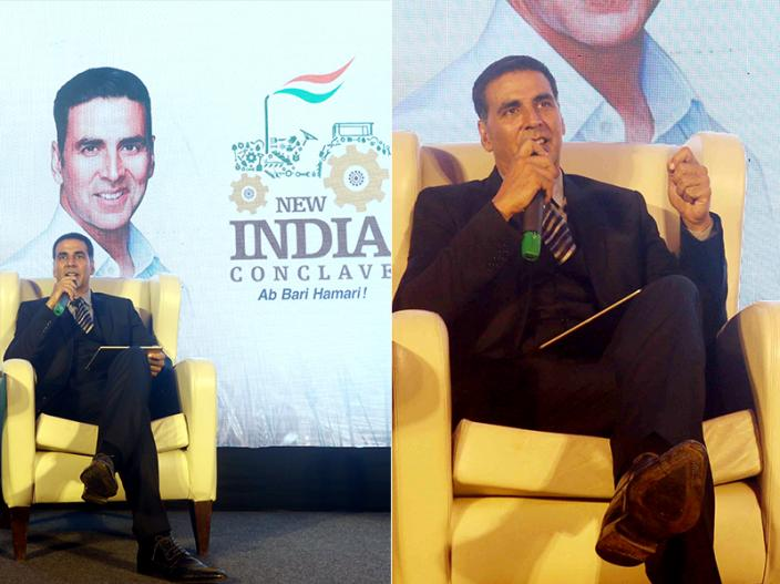 Akshay Kumar at the launch of New India Conclave |