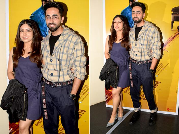 Andhadhun Screening Photos:Ayushmann Khurrana, vicky kaushal, radhika apte and bollywood stars attend the screening |