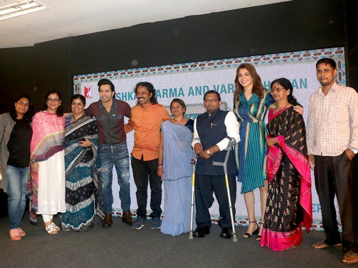 In Photos: Varun Dhawan and Anushka Sharma Sui Dhaga event at Yashraj studios in Andheri |