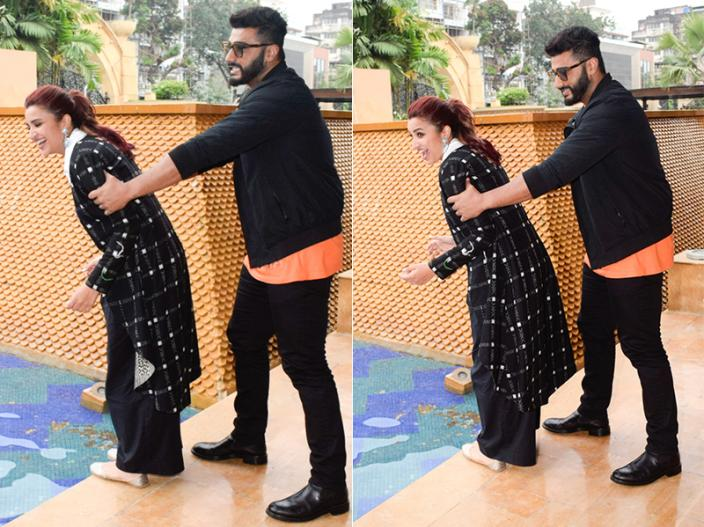 Arjun Kapoor and Parineeti Chopra during the media interactions for film Namaste England |