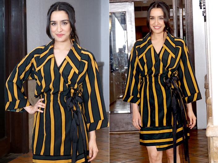 In Pics: Shraddha Kapoor Did Her Upcoming Movie Batti Gul Meter Chalu Promotion at Sun n Sand Juhu |