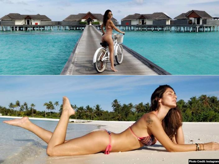 Bruna Abdullah share her topless and braless pics on instagram |