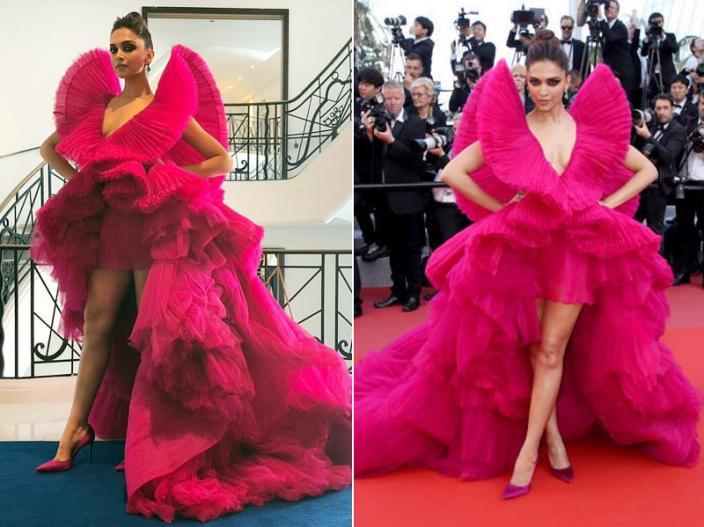 कांस फिल्म फेस्टिवल 2018 की रेड कार्पेट पर दीपिका पादुकोण आशी स्टूडियो की डिजाइनर ड्रेस में एक नए अवतार में नजर आईं।   कांस फिल्म फेस्टिवल 2018 की रेड कार्पेट पर दीपिका पादुकोण आशी स्टूडियो की डिजाइनर ड्रेस में एक नए अवतार में नजर आईं।