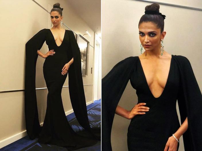 ब्लैक ड्रेस में दीपिका स्टनिंग लग रही हैं।   ब्लैक ड्रेस में दीपिका स्टनिंग लग रही हैं।