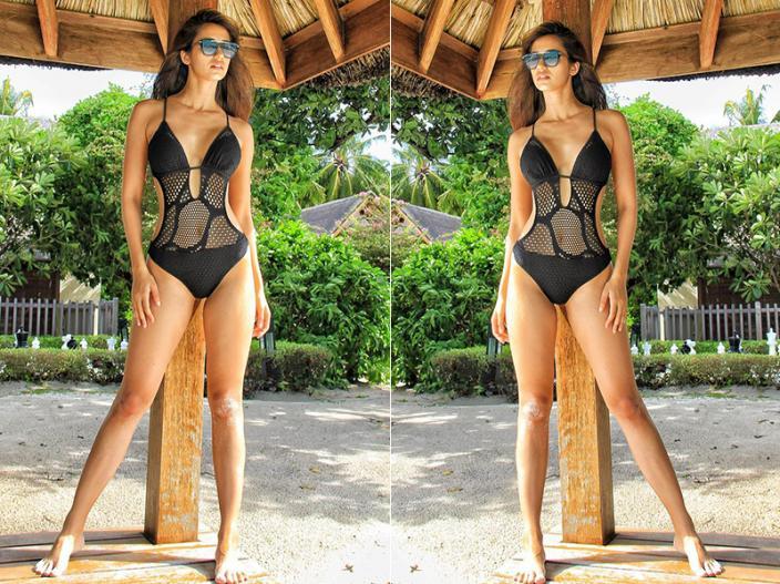 See Disha Patani bold, sexy, summer hotter pics in black monokini, View Photos |