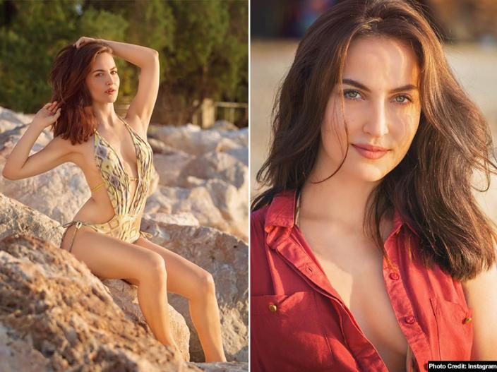 Elli Avram Share Her Red Bikini Photo on Instagram, More Than 1 lakh Fans Like The Photos |