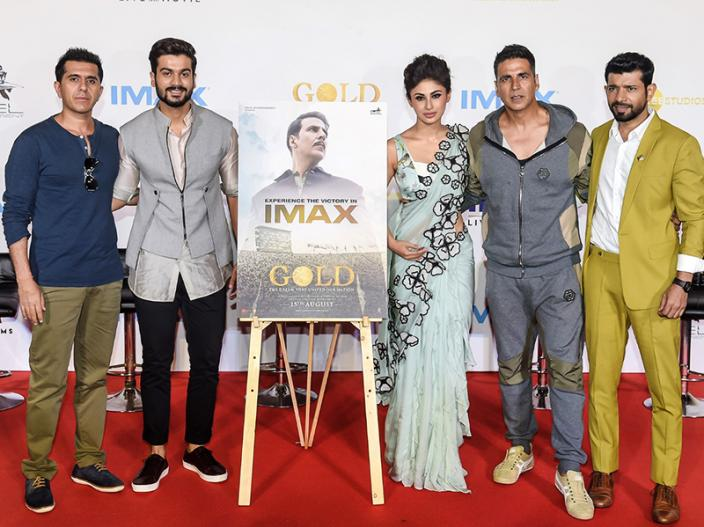 Akshay Kumar and Mouni Roy Gold Trailer Launch at Imax R City mall in ghatkopar, Mumbai |