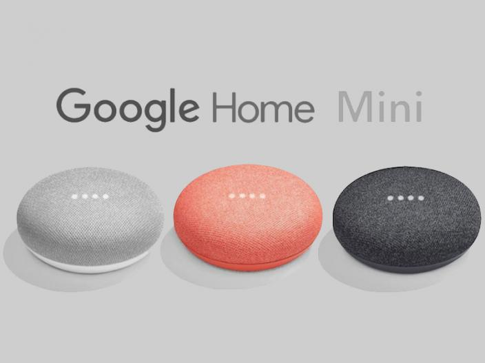 Google Home and Home Mini Smart Speakers |