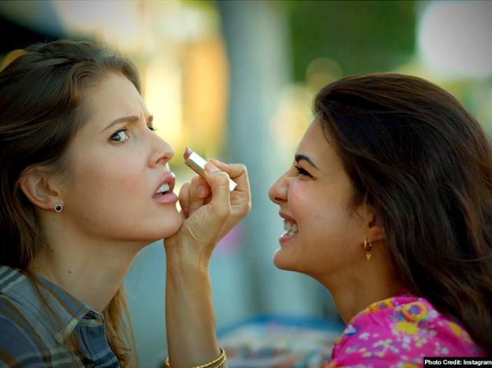 See Bold Photos of jacqueline fernandez and youtube star amanda cerny |