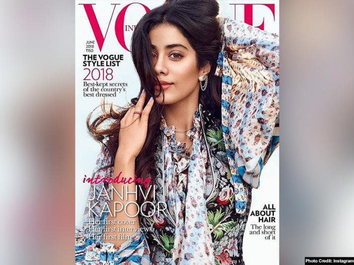 See Photos: Dhadak actress janhvi kapoor shares her vogue magazine photoshoot |